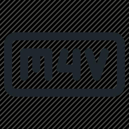 file, m4v, video icon