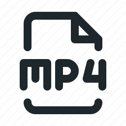 file, mp4, video icon