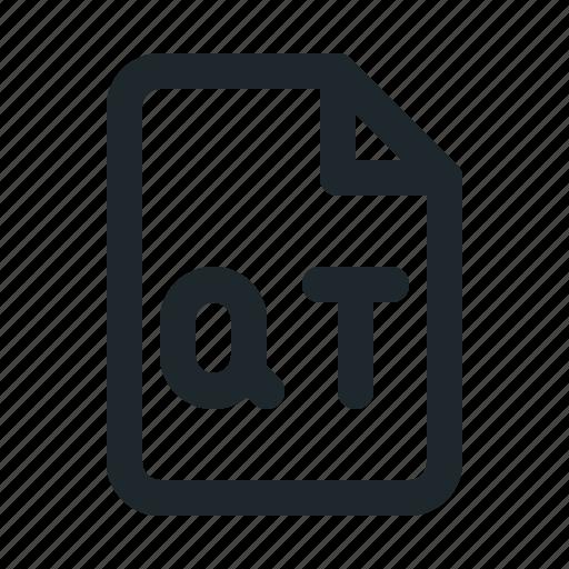 file, qt, video icon