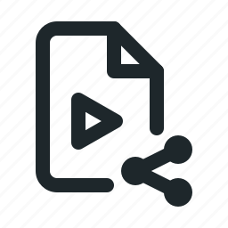 file, share, video icon