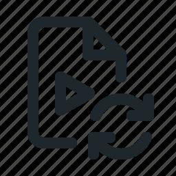 file, sync, video icon