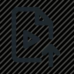 file, upload, video icon