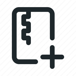 add, file, zipped icon