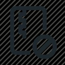 blocked, file, zipped icon