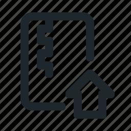 file, home, zipped icon