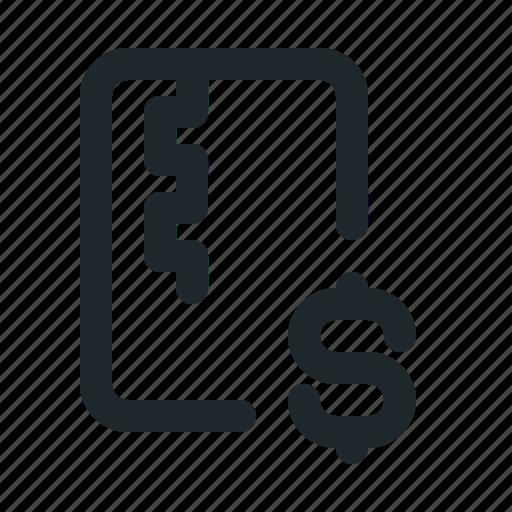 file, money, zipped icon