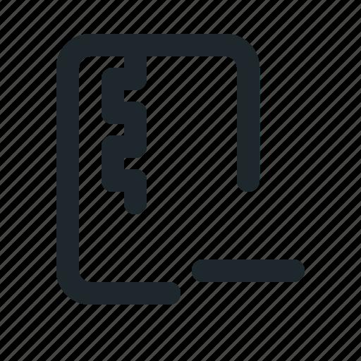file, remove, zipped icon