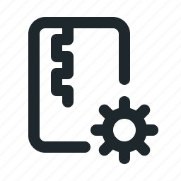 file, setting, zipped icon