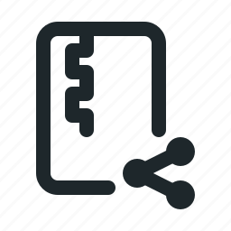 file, share, zipped icon