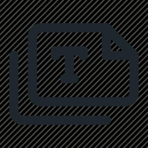 files, landscape, text icon