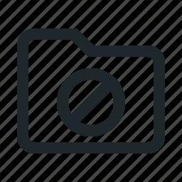 blocked, folder icon