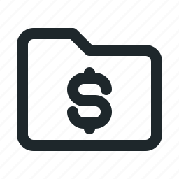 folder, money icon