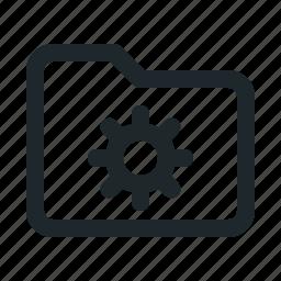 folder, setting icon