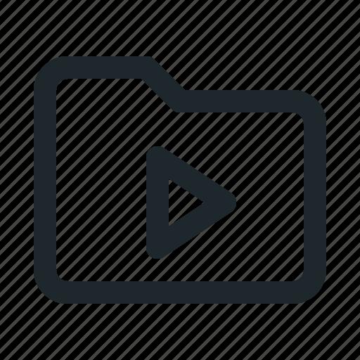 folder, video icon