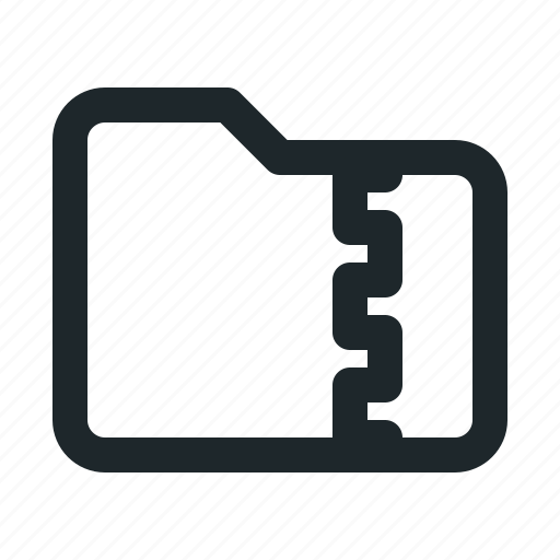 folder, zipped icon