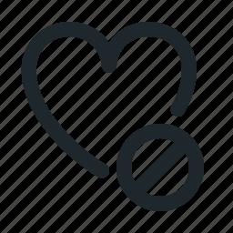 blocked, love icon