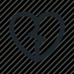 broken, love icon