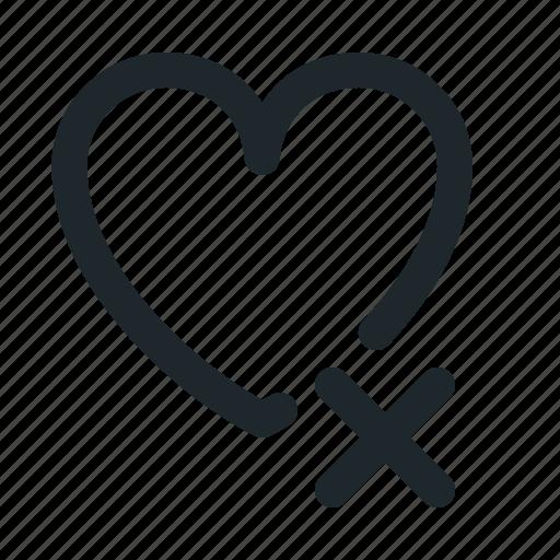 delete, love icon