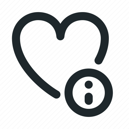 info, love icon