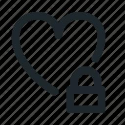 locked, love icon