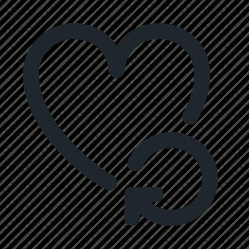 love, reload icon