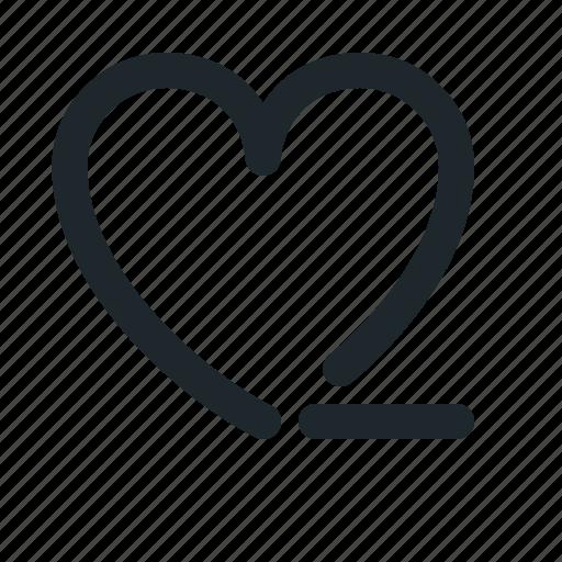 love, remove icon