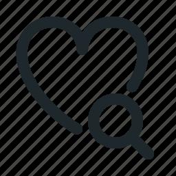 love, search icon