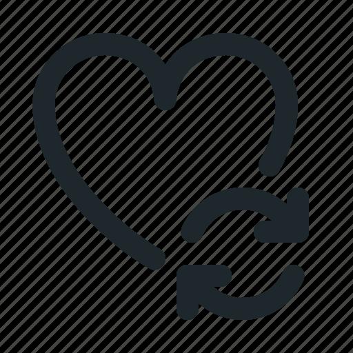 love, sync icon