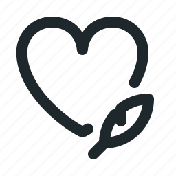 love, text icon