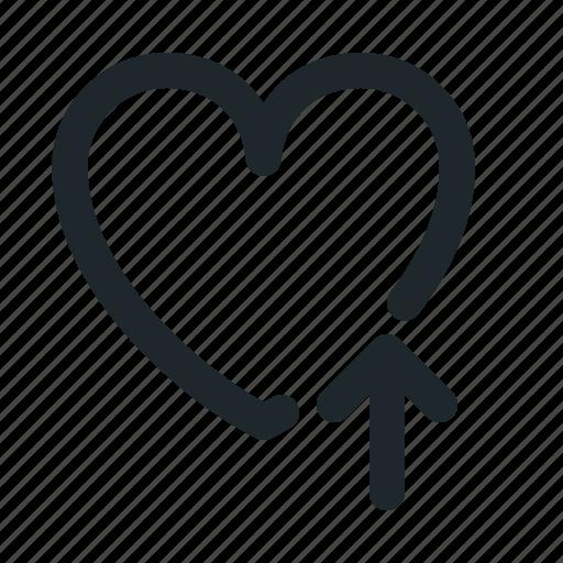 favorite, heart, like, love, upload icon