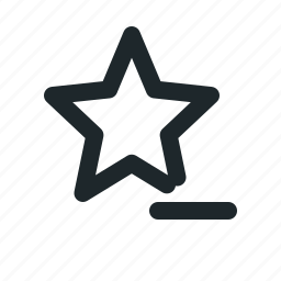 award, favorite, minus, remove, star icon