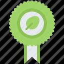 award, badge, diet, leaf, raw, vegan, vegetarian icon