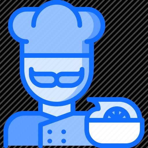 Chef, diet, raw, salad, vegan, vegetable, vegetarian icon - Download on Iconfinder