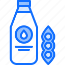 bottle, diet, milk, raw, soy, vegan, vegetarian icon