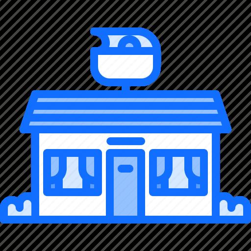 Building, diet, raw, restaurant, salad, vegan, vegetarian icon - Download on Iconfinder