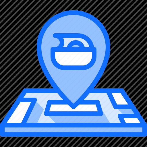Diet, location, map, pin, raw, vegan, vegetarian icon - Download on Iconfinder