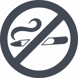 cigarette, diet, healthy lifestyle, sign, to give up smoking icon