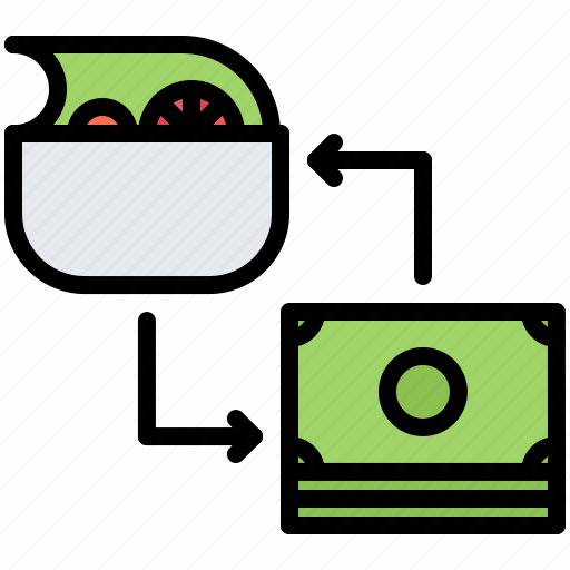Diet, exchange, money, raw, salad, vegan, vegetarian icon - Download on Iconfinder