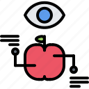 apple, diet, monitoring, raw, vegan, vegetarian icon