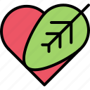 diet, heart, leaf, love, raw, vegan, vegetarian icon