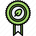 award, badge, diet, leaf, raw, vegan, vegetarian icon