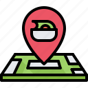 diet, location, map, pin, raw, vegan, vegetarian icon