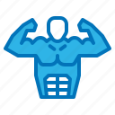 diet, fitness, muscle, nutrition, pack, six icon