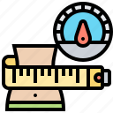 scale, waist, health, weight, measuring icon
