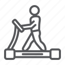 equipment, exercise, fitness, gym, runner, sport, treadmill icon