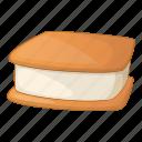 cream, ice, ice-cream, waffle icon