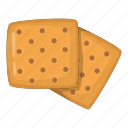 biscuit, cooking, cracker, food icon
