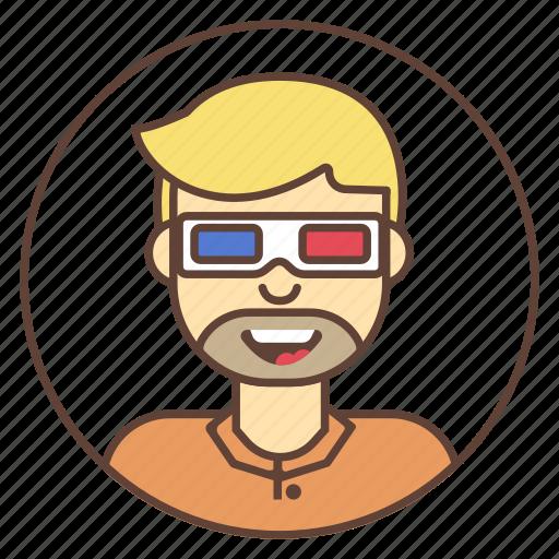 avatar, character, glasses, head, line, man, movie icon