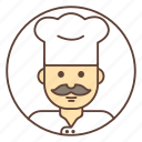 avatar, chef, cook, mustache