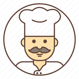 avatar, chef, cook, mustache icon
